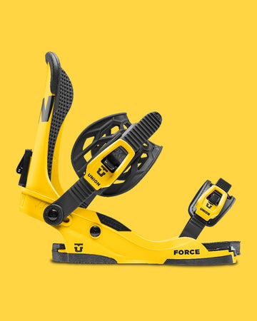 2021 Union Custom House Force Snowboard Binding in Yellow