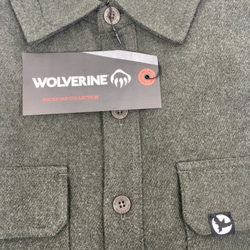 Milosport Small Bird Flannel by Wolverine in Charcoal Heather Twill