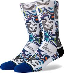 Stance Hendrix Dissolved Sock in Multi Colors