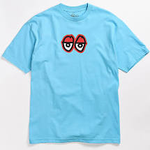Krooked Eyes T-shirt in Carolina Blue