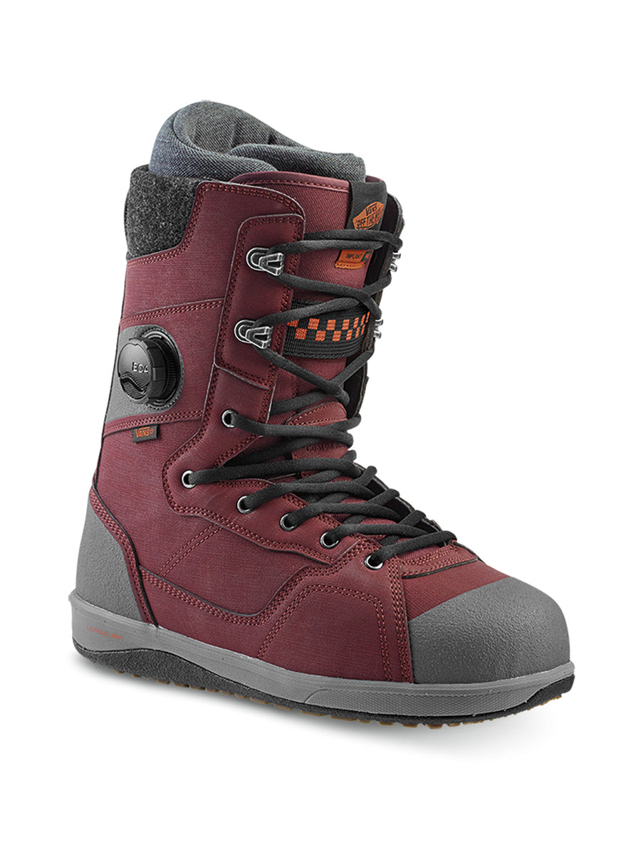 2020 Vans Implant Pro Mens Snowboard Boots in Burgandy and Grey