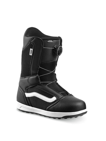 2020 Vans Juvie Linerless Kids Snowboard Boots in Black and White