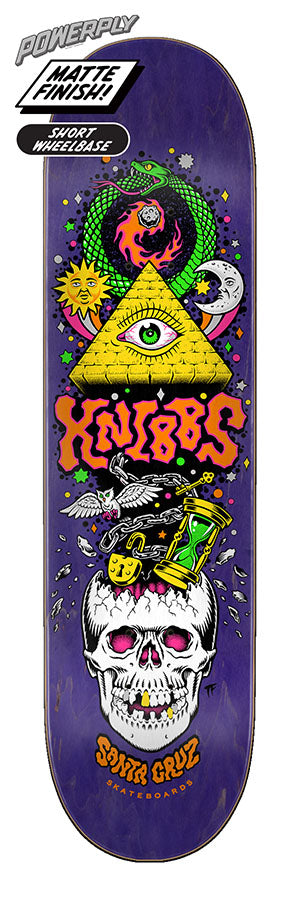 Santa Cruz Knibbs Alchemist Powerply Skate Deck in 8.375