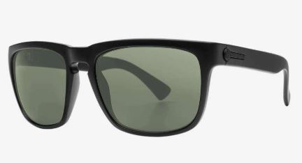 Electric Knoxville Sunglass in Matte Black Frames and a Grey Polarized Lens
