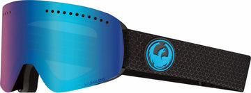 2020 Dragon NFX Snow Goggles in Split with LL Blue Ion and Amber Lens