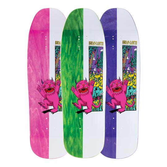 Welcome Brian Lotti Wild Thing on Gaia Skate Deck in 9.6