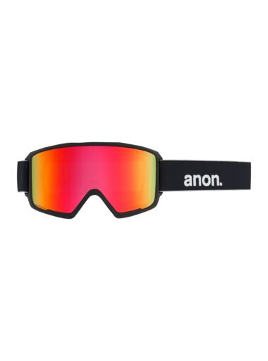 2020 Anon M3 with SPR Mens Snow Goggle in Black with a Sonar Red Lens