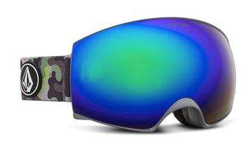 2021 Electric Volcom Magna Snow Goggle in Camo Frames with a Lime Green Chrome Lens