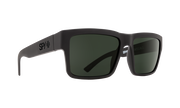 Spy Montana Sunglasses in Soft Matte Black with Gray Green Lens