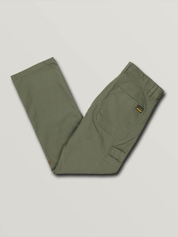 Volcom Nailer Canvas Pant in Army Green Combo