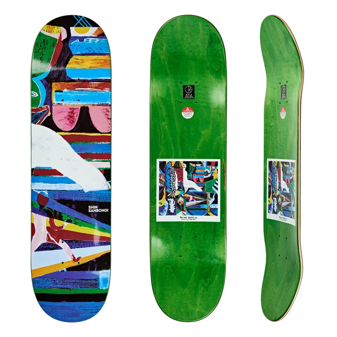Polar Skate Co Shin Memory Palace Skate Deck in 8.5