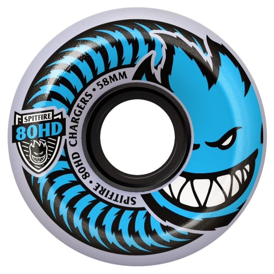 Spitfire Charger Conical Clear Skate Wheel in Blue