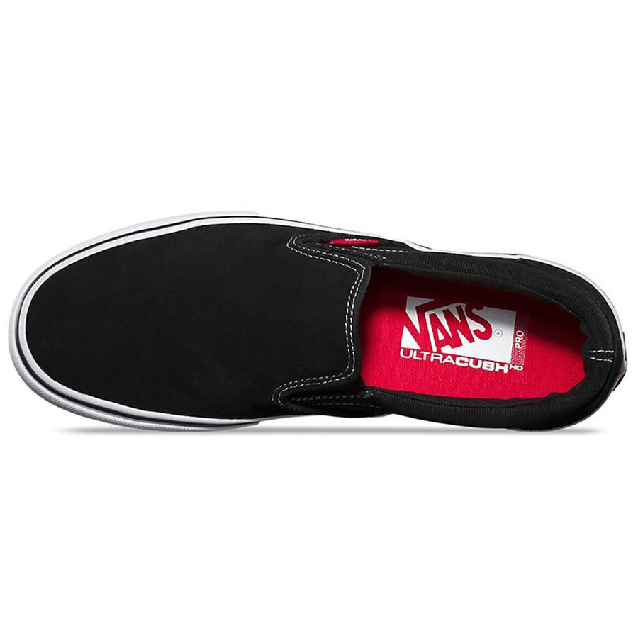 Vans Slip On Pro Shoe in Black White and Gum