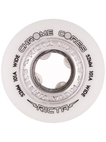 Ricta Chrome Core Silver Wide 101a Skate Wheel in 52mm