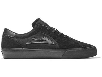 Lakai Flaco II Skate Shoe in Black and Black Suede