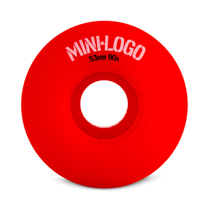 Mini Logo Hybrid A-Cut 53mm Skate Wheels in 90a Red