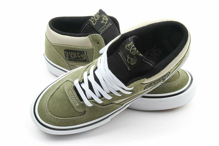 Vans Half Cab Pro Skate Shoe in Lizard and Eucalyptus