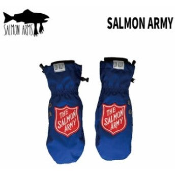 2021 Salmon Arms Salmon Army Snow Mitts in Blue