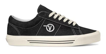Vans Saddle Sid Pro Skate Shoe in Black and White