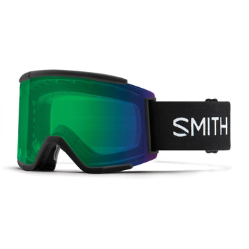 2020 Smith Squad Xl  Snow Goggle in Black frames with Chromapop Everyday Green Mirror Lens and a Chromapop Storm Yellow Flash Replacement Lens
