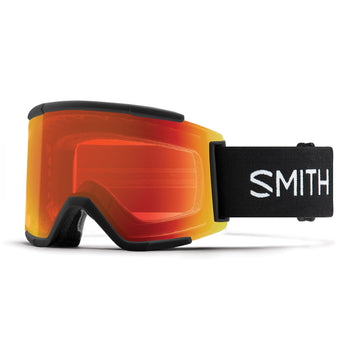 2020 Smith Squad Xl  Snow Goggle in Black frames with Chromapop Everyday Red Mirror Lens and a Chromapop Storm Rose Flash Replacement Lens