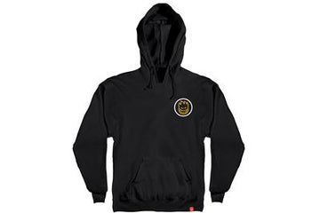 Spitfire Classic Swirl Fade Hoodie in Black and Yellow