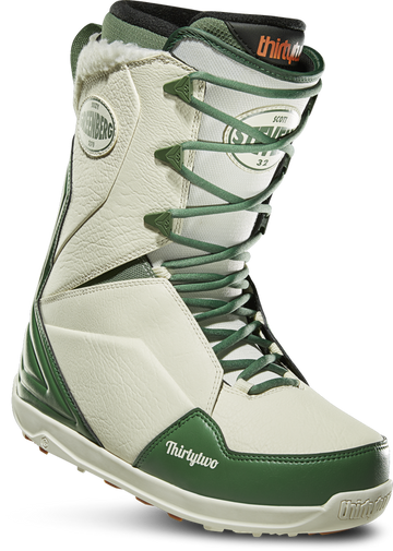 2020 Thirty Two (32) Lashed Quick Strike Scott Stevens Snowboard Boot in Green and White