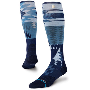 2021 Stance Baux Snow Sock in Navy Blue