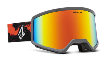 2021 Electric Volcom Stoney Snow Goggle in Smoke Frames with a Red Chrome Lens