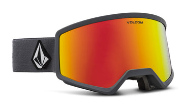 2021 Electric Volcom Stoney Snow Goggle in Gray Frames with a Red Chrome Lens