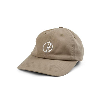 Polar Skate Co Stroke Logo Cap in Khaki
