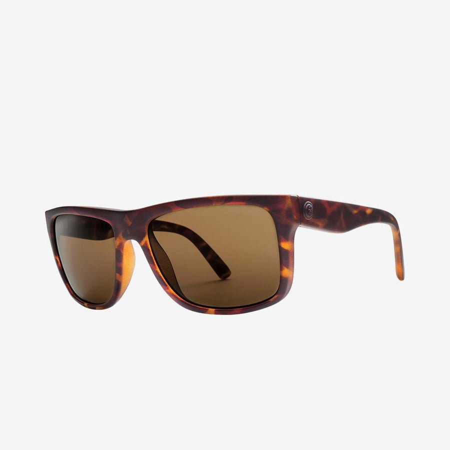 Electric Swingarm Sunglass in Matte Tortoise Frames and a Bronze Lens