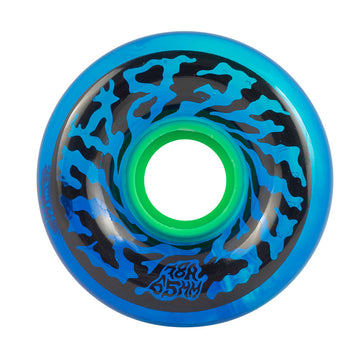 Slime Balls 65mm Swirly Translucent Blue Skate Wheels in 78a