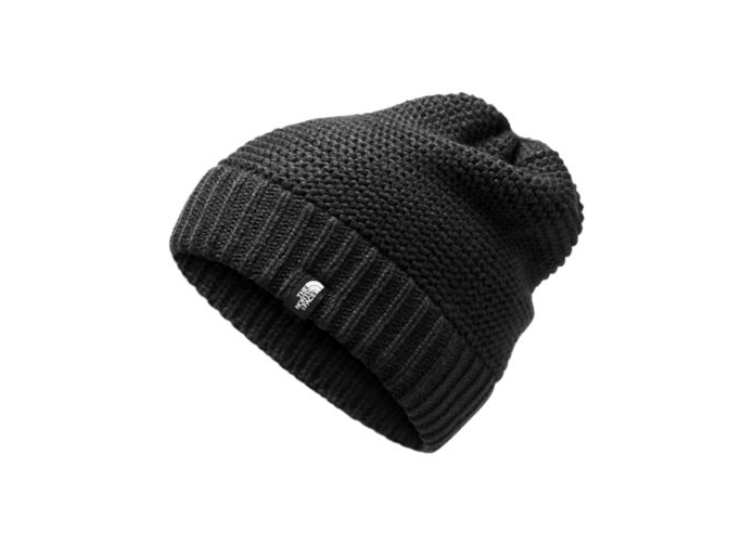The North Face Womens Purrl Stitch Beanie in TNF Black