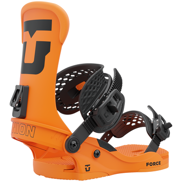 2022 Union Force Mens Snowboard Binding in Florescent Orange