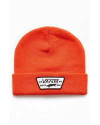 Vans Milford Beanie in Spicy Orange