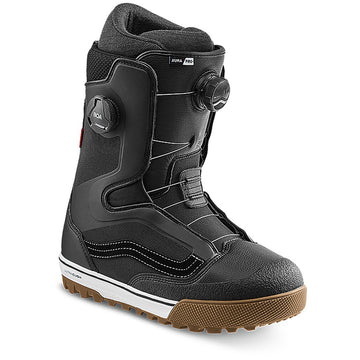 2022 Vans Aura Pro Snowboard Boot in Black and White side view