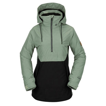 2021 Volcom Womens Fern Ins Gore Pullover in Dusty Green