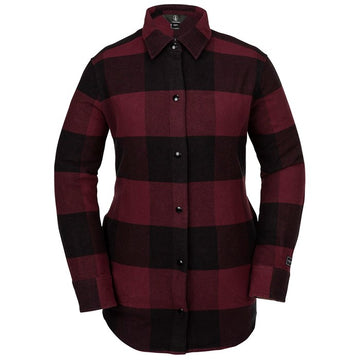 2020 Volcom Womens Jenny Flannel Snow Jacket in Scarlet