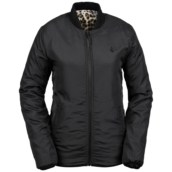 2020 Volcom Womens Reversable Polar Snow Jacket in Black