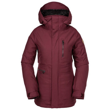 2020 Volcom Shelter 3D Stretch Womens Snow Jacket in Scarlet