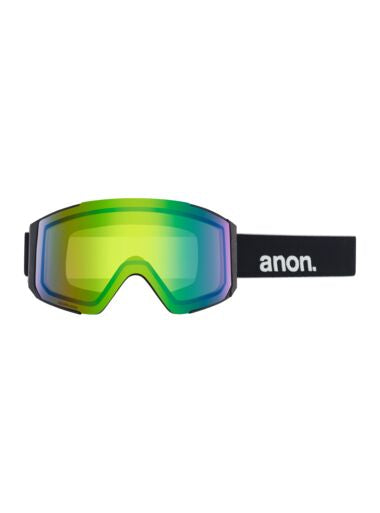 2020 Anon Sync Womens Snow Goggle in Black with a Sonar Green Lens