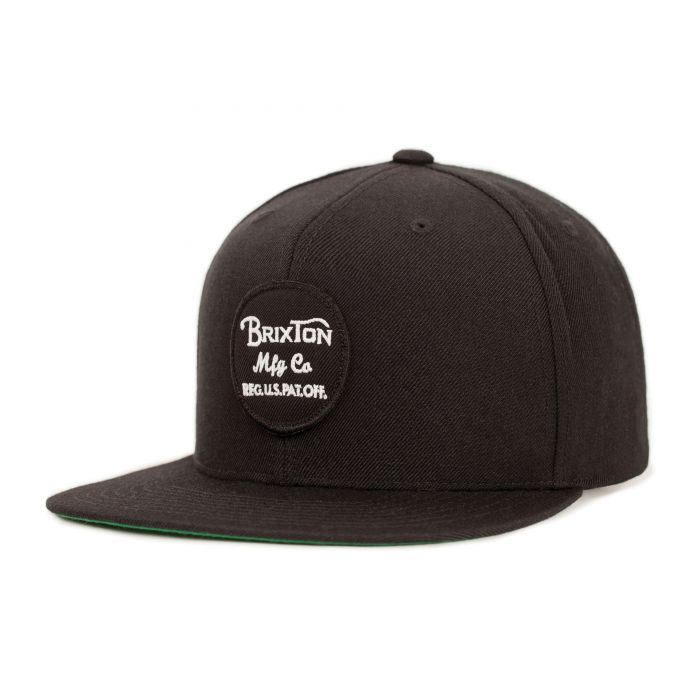 Brixton Wheeler Snapback in Black