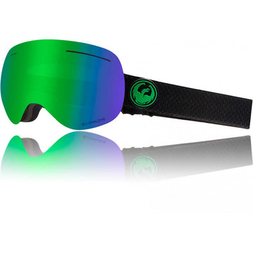 2020 Dragon X1 Snow Goggles in Split with LL Green Ion and Amber Lens