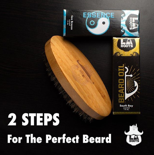 How the LA Roots 2-Step Beard Care System Works