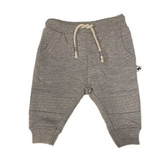 biker jogging pant heather grey