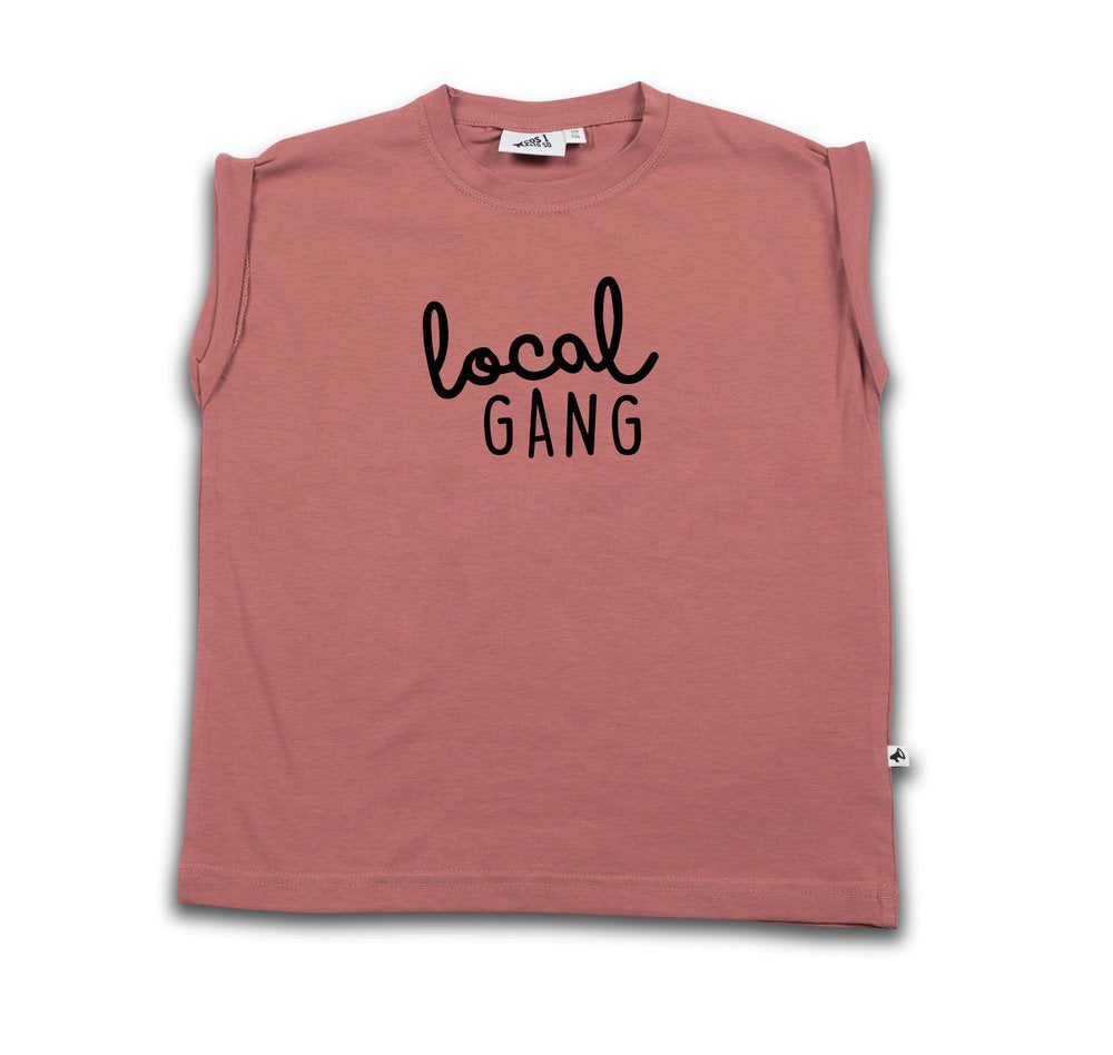 LOCAL GANG BOXY TEE WITHERED ROSE