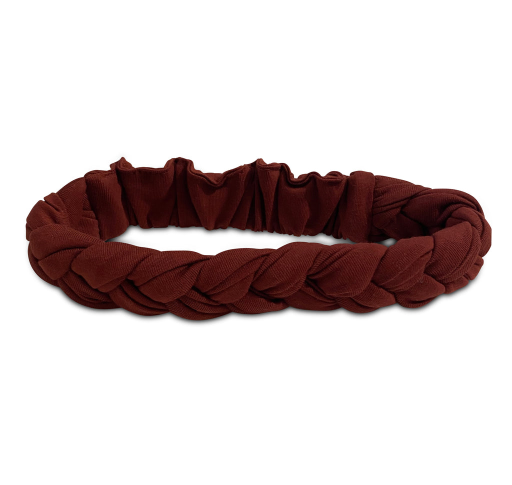 BRAIDED HEADBAND BRANDY