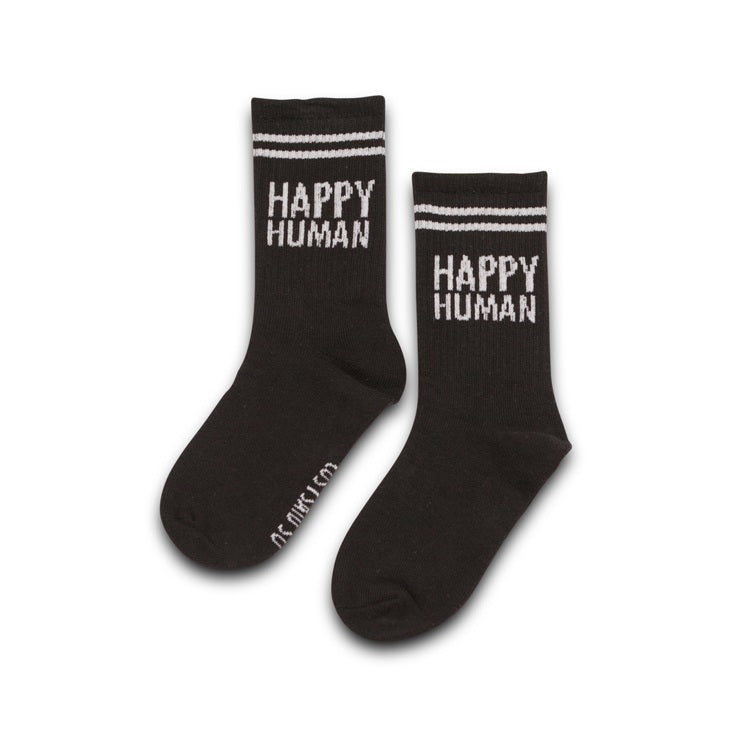 HAPPY HUMAN SOCKS BLACK/WHITE