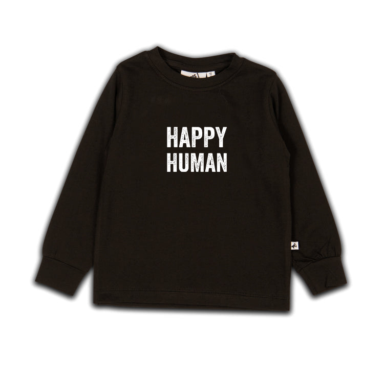 HAPPY HUMAN T-SHIRT LS METEORITE